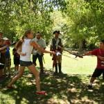 Maykenzie n Kevin foam sword challenge